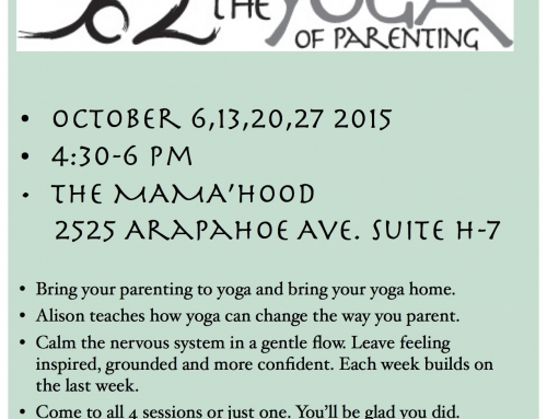 New YOP Workshops Starting OCT.6, 2015 at Mama'hood Boulder